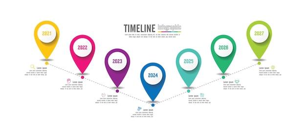 Презентация бизнес инфографики шаблон красочный