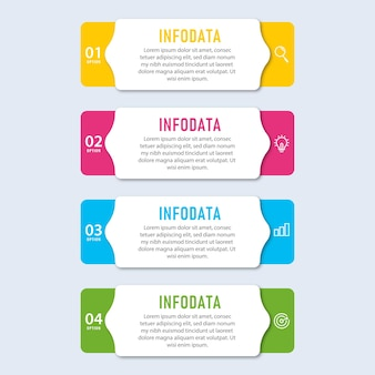 Presentation business infographic template elements with 5 options