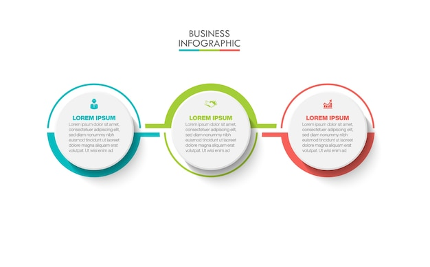 Presentation business infographic template with 3 options