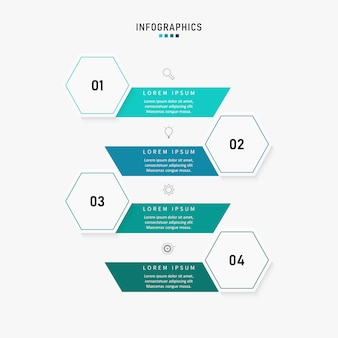 Presentation business infographic template with 4 options. illustration.