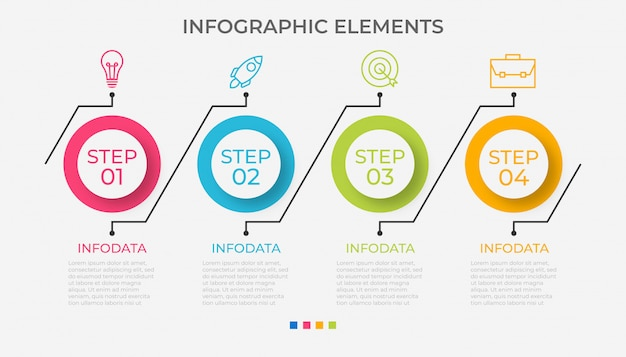 Presentation business infographic template with 4 options