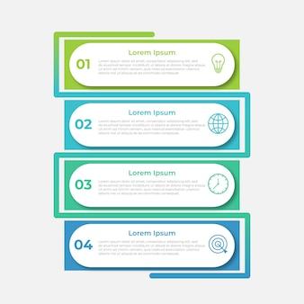 Презентационный бизнес-инфографический шаблон с 4 вариантами