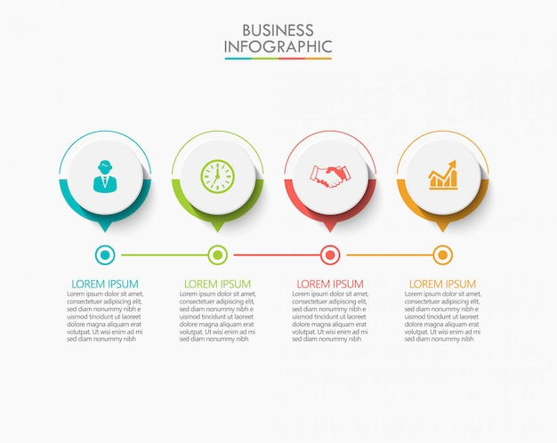 Presentation business infographic template with 4 options.