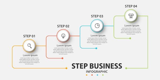 Шаблон бизнес-инфографики презентации с 5 вариантами.