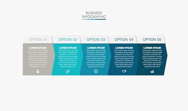オプション付きのプレゼンテーションビジネスインフォグラフィックテンプレート