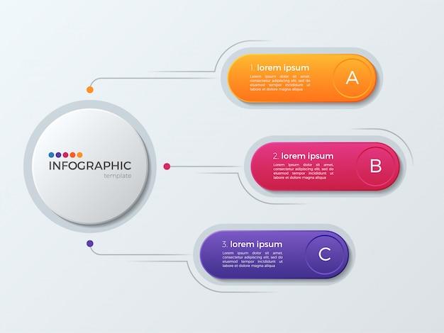 オプションでプレゼンテーションビジネスインフォグラフィックテンプレート。