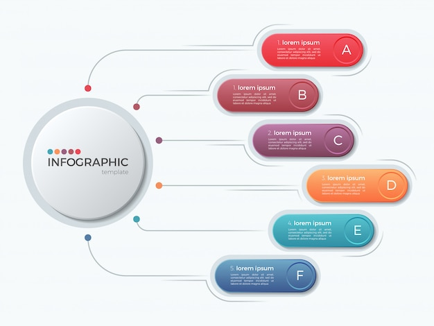 Presentation business infographic template with  options.