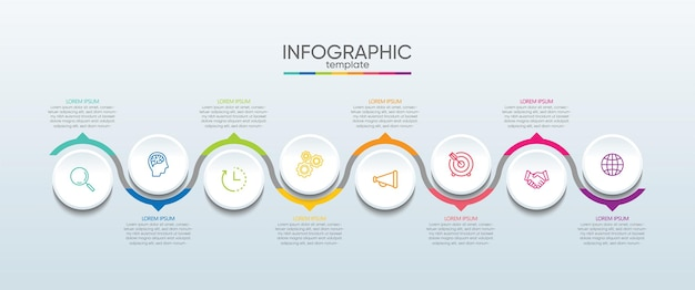 Presentation business infographic template with step