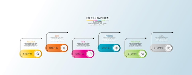 Presentation business infographic template with steps