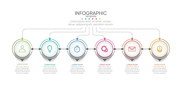 프레젠테이션 비즈니스 infographic 템플릿