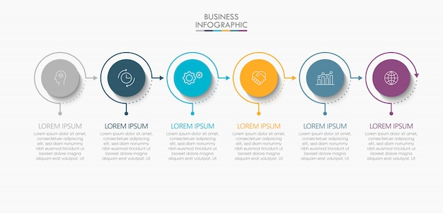Presentation business infographic template