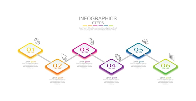 Презентация бизнес-инфографики с 6 шагами