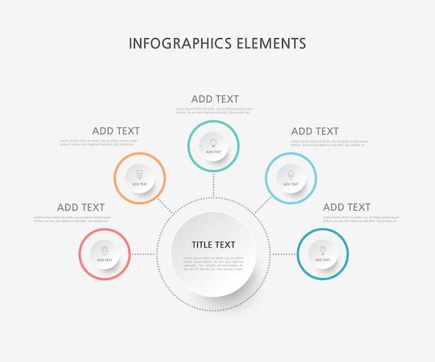 Presentation business infographics template. illustration.