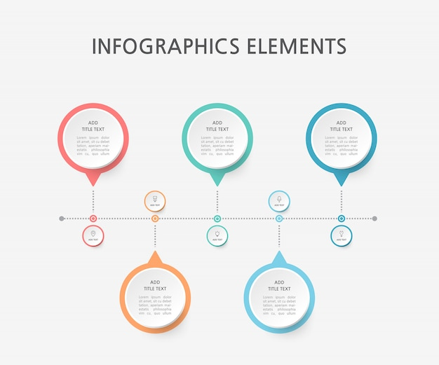 Presentation business infographics template. illustration.