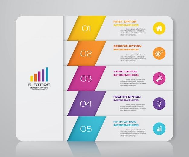 Presentation chart infographic element.