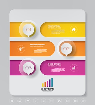Presentation chart infographic element.