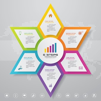 Presentation chart infographic element