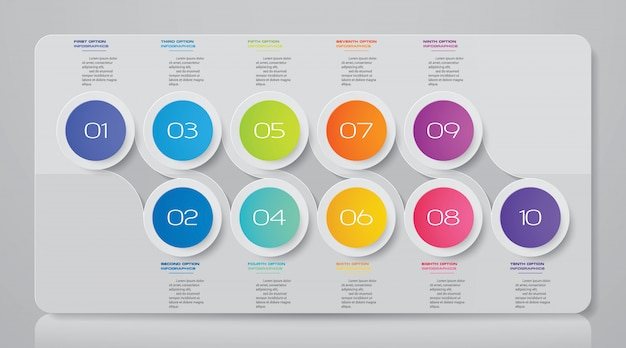 Presentation chart infographic element