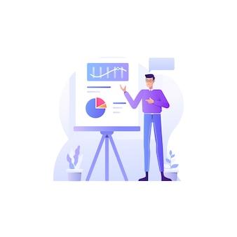 Presentation concept  illustration