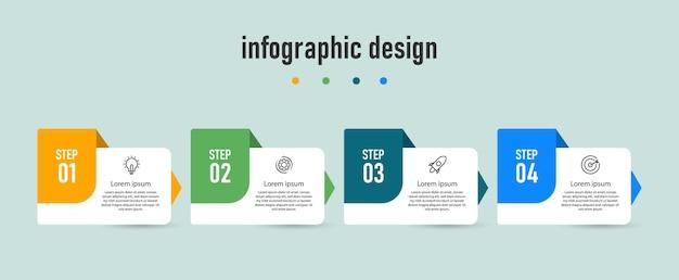 プレゼンテーションデザインのインフォグラフィックテンプレート