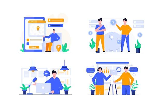 Презентация плоский дизайн иллюстрации