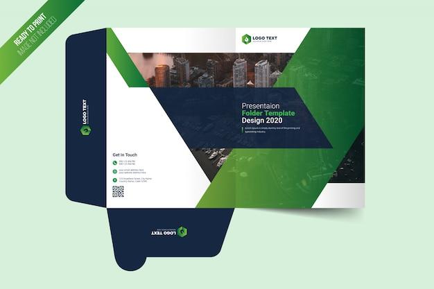Presentation folder template design