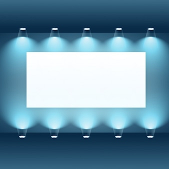 Presentation frame with spotlights