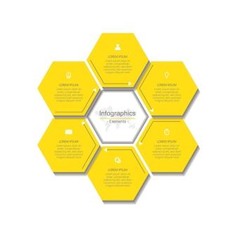 Шаблон презентации инфографики с шагом 6