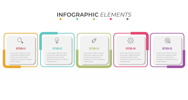 Presentation infographic template