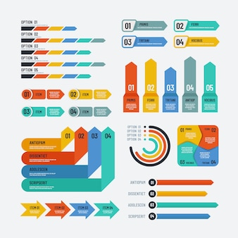 Presentation infographics. flowchart timeline process chart workflow option diagrams. infographic vector elements