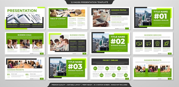 Presentation layout template with premium style use for business portfolio and annual report