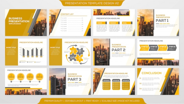 Presentation layout template