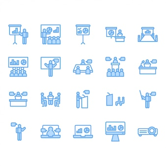 Presentation and meeting related icon set