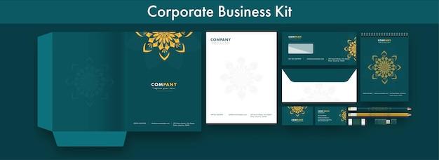 기업 비즈니스 또는 신원 키트 프레젠테이션