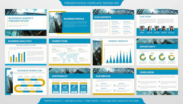 Presentation page template