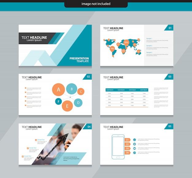 Presentation slide layout design template