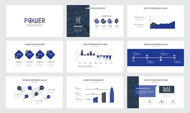Шаблоны слайдов презентаций и бизнес-брошюры.