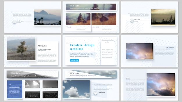 Presentation slides business templates
