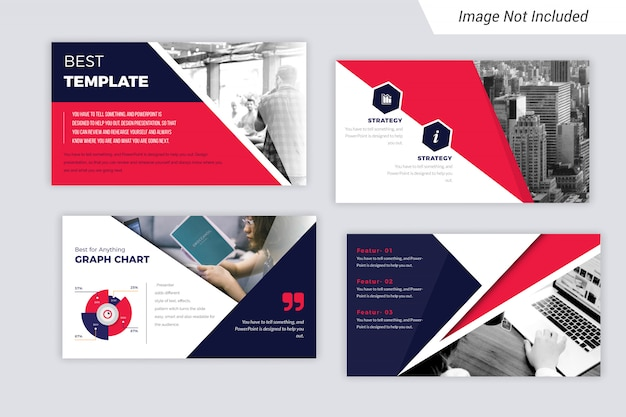 Presentation slides with infograph chart