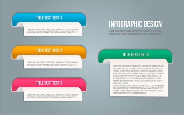 Presentation template for banner design