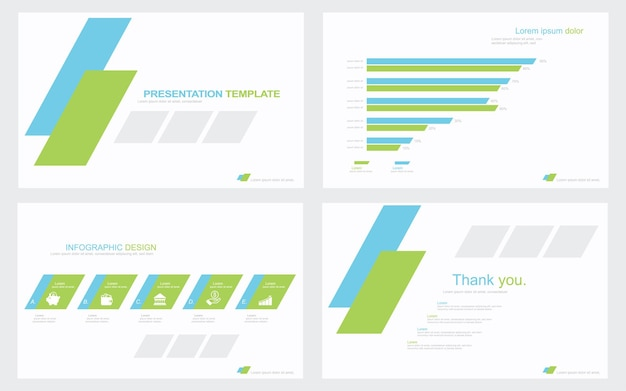 Presentation template design with infographic stock illustration data document graph