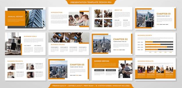 Дизайн шаблона презентации с простым макетом