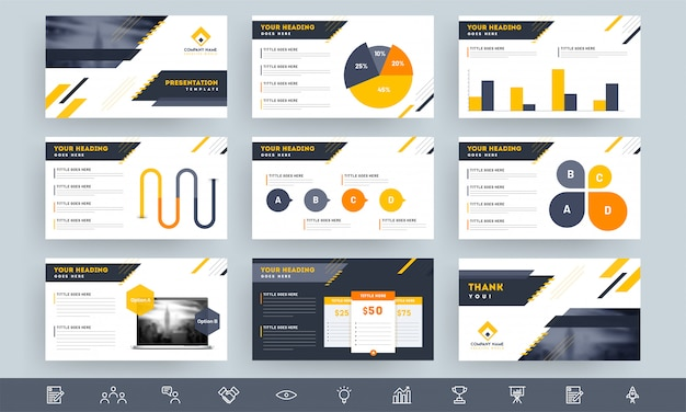 Presentation template layout