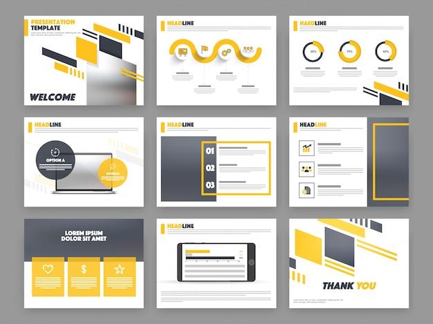 Шаблон презентации с инфографикой для бизнеса.