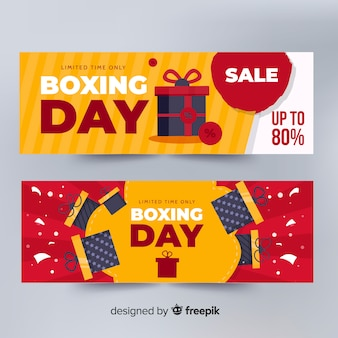Presents explosion boxing day banner