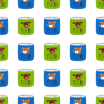 Preserve food for cats and dogs pattern