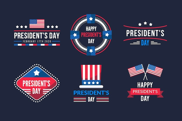 President day celebration label collection