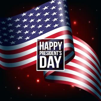 President day celebration with flag