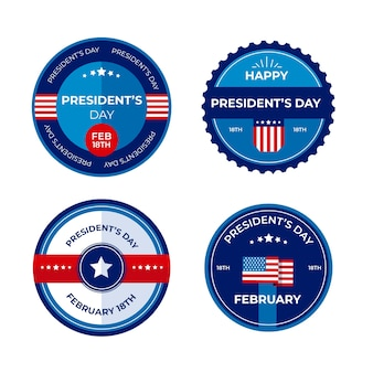 ラベルコレクションの大統領の日デザイン