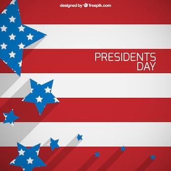 President day flag background
